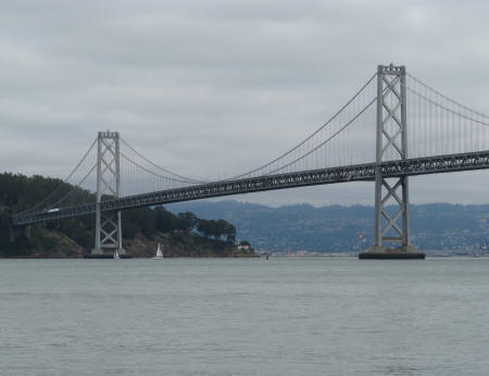 Bay Bridge to Oakland California from San Francisco